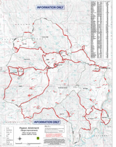topo map of arizona hunting ranch for sale - Pat Mountain Ranch by Premier Ranch Properties
